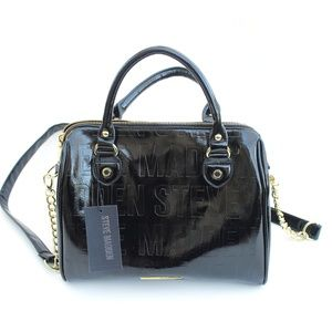 NEW Black Steve Madden Black Patent Satchel